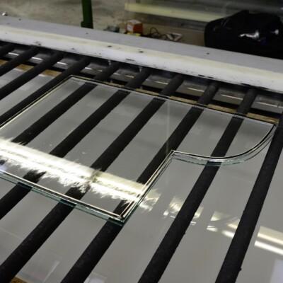 Herstellung von Antikglas für die Restaurierung